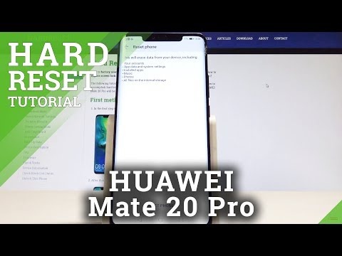 How to Factory Reset HUAWEI Mate 20 Pro - Hard Reset / Restore Defaults