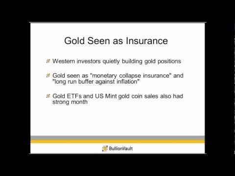 Gold Investors Building Positions for 2013 -- BullionVault Gold Investor Index