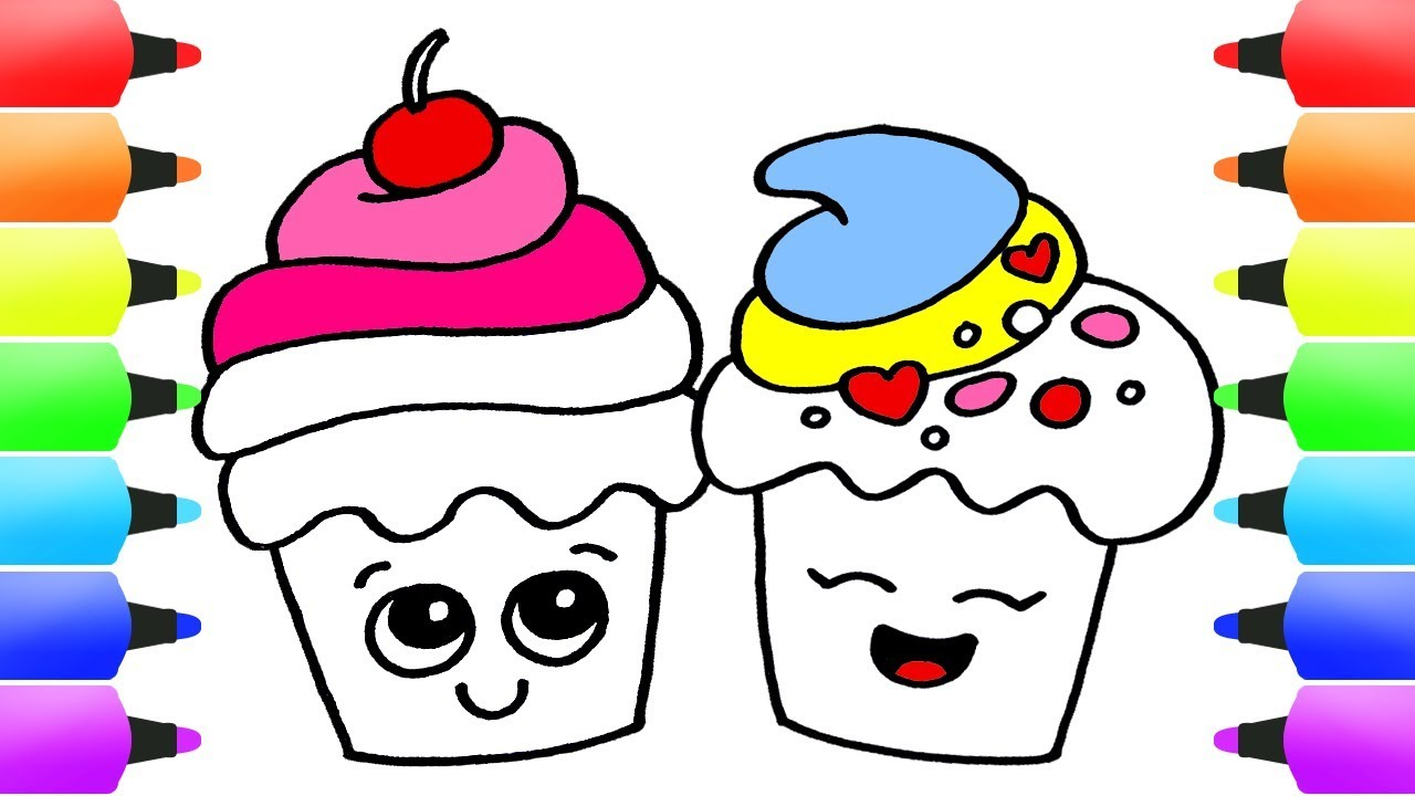 How To Draw Cupcakes Easy Drawing Ideas For Kids Delicious Cute