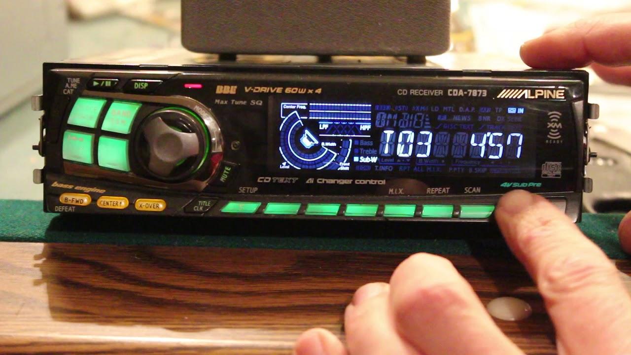 alpine cd receiver cda 7873 deck headunit overview youtube rh youtube com Alpine CDA-7873 CD Player Will Not Work Alpine CDA 7893
