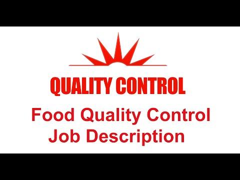 Food Quality Control Job Description