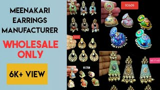 Meenakari earring manufacturer | Earring wholesale | jhumka | imitation jewellery manufacturer.