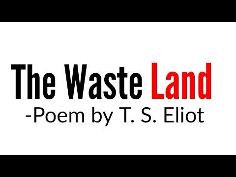 The Waste Land: Poem By T. S. Eliot In Hindi