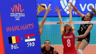 BELGIUM Vs. SERBIA -  Highlights Women | Week 3 | Volleyball Nations League 2019