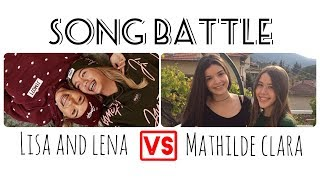 Musical.ly Song Battle Compilation | Lisa and Lena VS Mathilde Clara | Part 2
