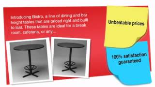 Bistro Series: 42 Round Table (dining Or Bar Height) - Ofconcepts.com
