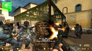 Counter Strike Source - Zombie Riot mod - Multiplayer gameplay walkthrough on Italy map