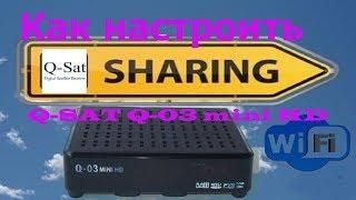 Як налаштувати sharing Q SAT Q 03 mini HD