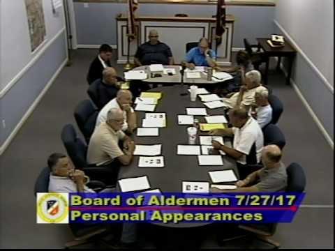 Ste. Genevieve (Mo) Board of Aldermen 7/27/17
