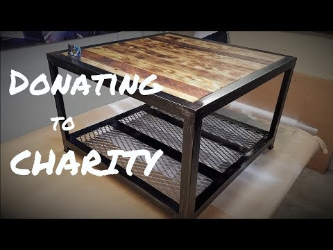 Building an Industrial Coffee Table for Charity - Metal & Wood