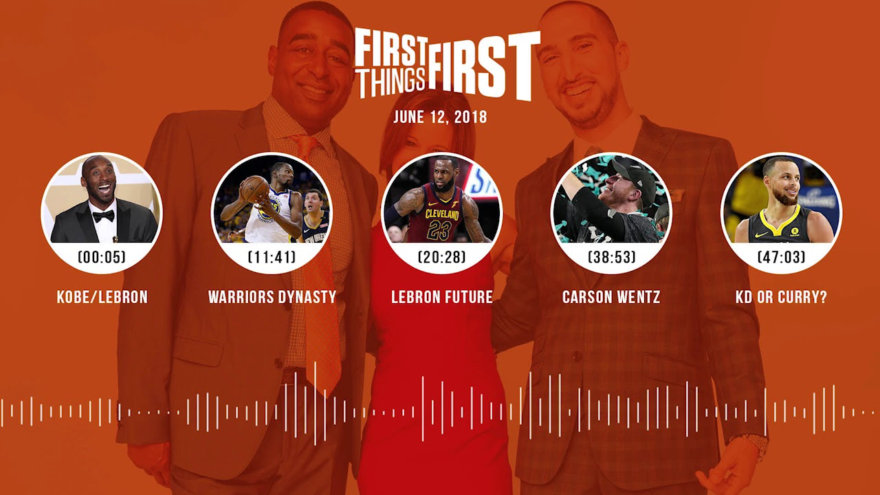 First Things First audio podcast(6.12.18) Cris Carter, Nick Wright, Jenna Wolfe | FIRST THINGS FIRST