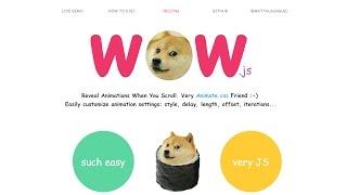 Anima tu sitio web con WOW.js y Animate.css