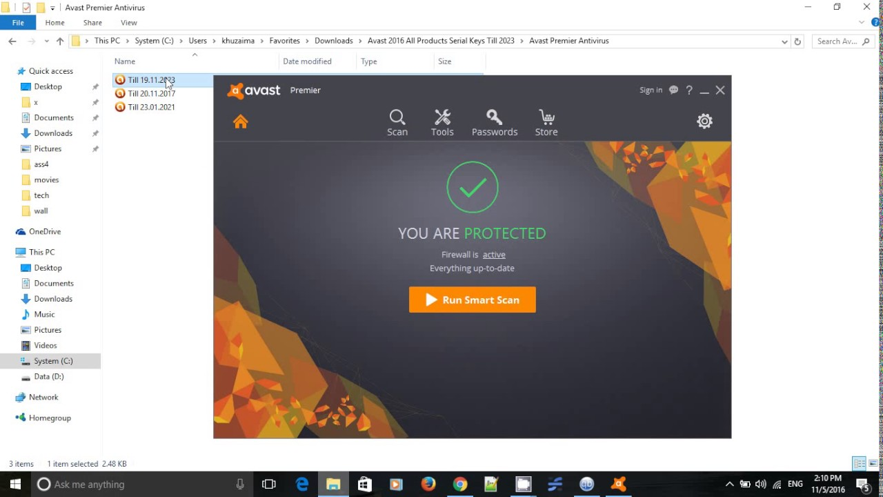 Avast Premier 2019 License Key Till 2023 | English