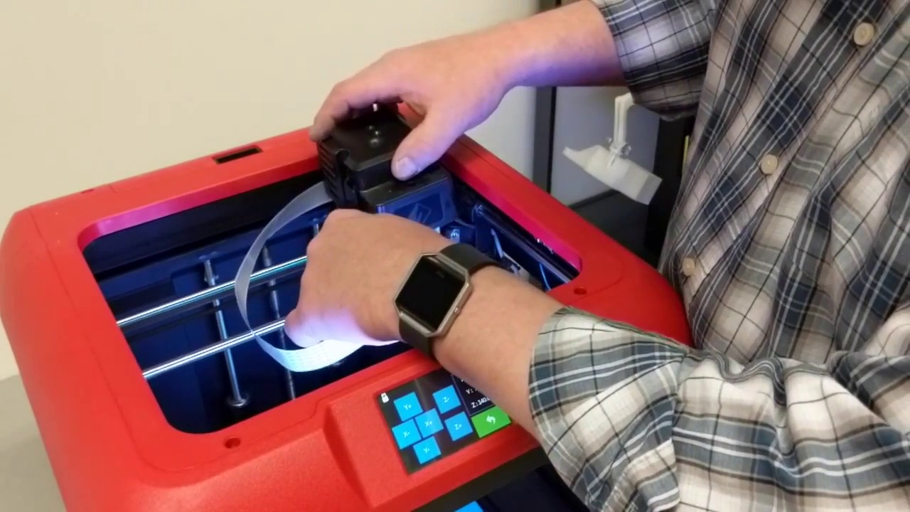 Removing a Jam from your FlashForge Finder (in real time) by David Trask