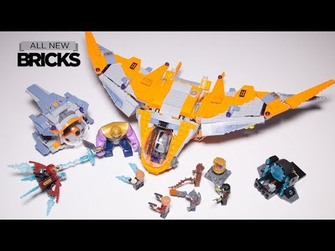 Lego Marvel Super Heroes 76107 Thanos Ultimate Battle With Thor's Weapon Quest Lego Speed Build