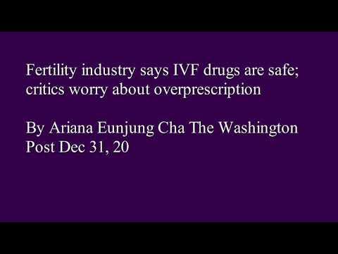 In vitro fertilization,IVF medications, Death of Woman, ovarian hyperstimulation syndrome, MENOPUR