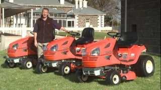 Kubota T80 series lawn tractors.