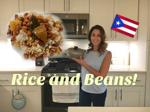 How To Make Rice And Beans! | Puerto Rican Style