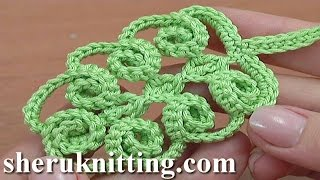 Repeat youtube video Crochet Simple Leaf With Spirals Tutorial 47