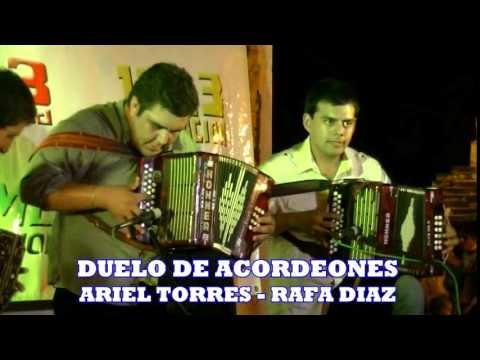 Duelo de acordeones entre Ariel Torres y Rafa Diaz   31 12 14