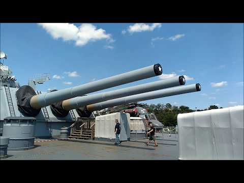 The USS New Jersey, Delaware River, Camden, New Jersey, United States.