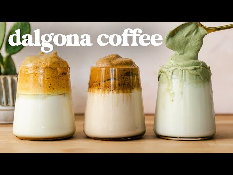 dalgona-coffee-recipes-☕️-3-flavors,-3-frothy-techniques