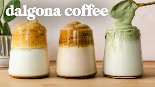 DALGONA COFFEE Recipes ☕️ 3 FLAVORS, 3 FROTHY Techniques