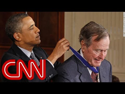 Hear the Obamas' statement on George H.W. Bush's death