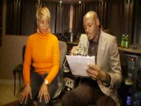 2face Idibia and Mary J Blidge in Studio