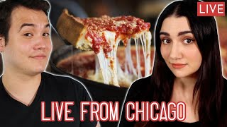 Livestreaming from My Parents' Basement Trying Iconic Chicago Foods