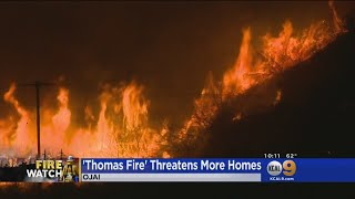 Thomas Fire Continues To Threaten Homes In Ojai