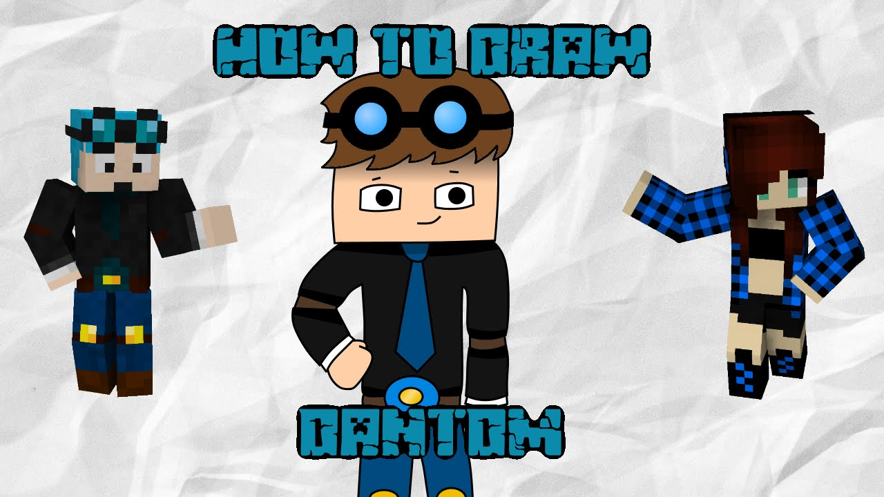 How To Draw Dantdm (the Diamond Minecart)