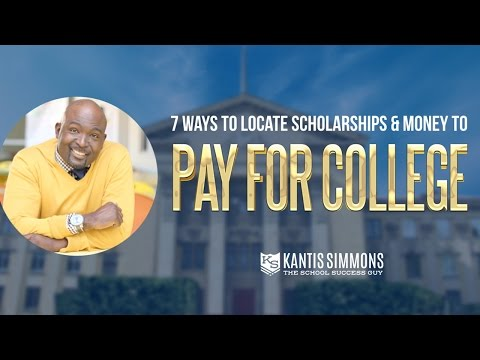 How to Find Scholarships and Money to Pay For College | Kantis Simmons