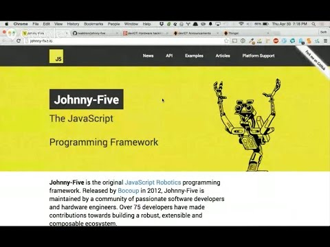 devICT: Hardware hacking with node and johnny-five!
