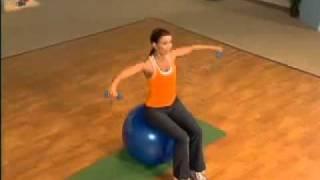 Упражнение для рук и груди с фитнес-мячом(Упражнение для рук и груди с фитнес-мячом., 2011-01-16T11:19:29.000Z)