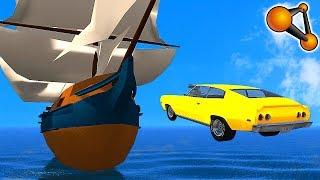 СМОЖЕТ ЛИ МАШИНА ПОТОПИТЬ КОРАБЛЬ!? - BEAMNG DRIVE