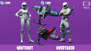NEW WHITEOUT + OVERTAKER SKINS AND GLIDERS! Fortnite Battle Royale