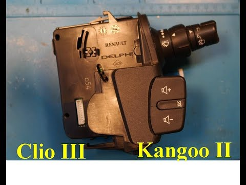 видео: Подрулевой переключатель рено клио 3 кангу 2 модус / clio iii kangoo ii