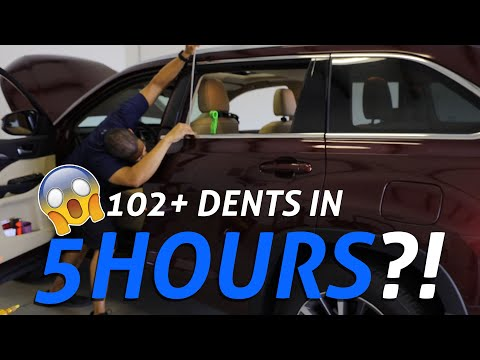 SUPER FAST PAINTLESS Hail Damage Dent Removal | 2018 Toyota Highlander