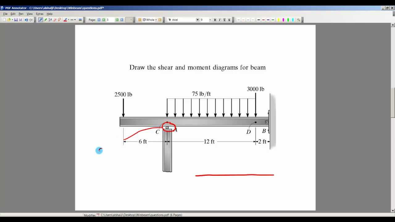 Using Winbeam To Draw Shear And Bending Moment Diagram 2 Youtube Software