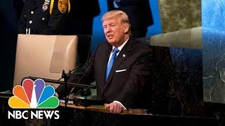 President Donald Trump Addresses the United Nations General Assembly (Full) | NBC News