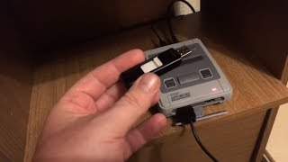 SNES Classic mini with USB external drive