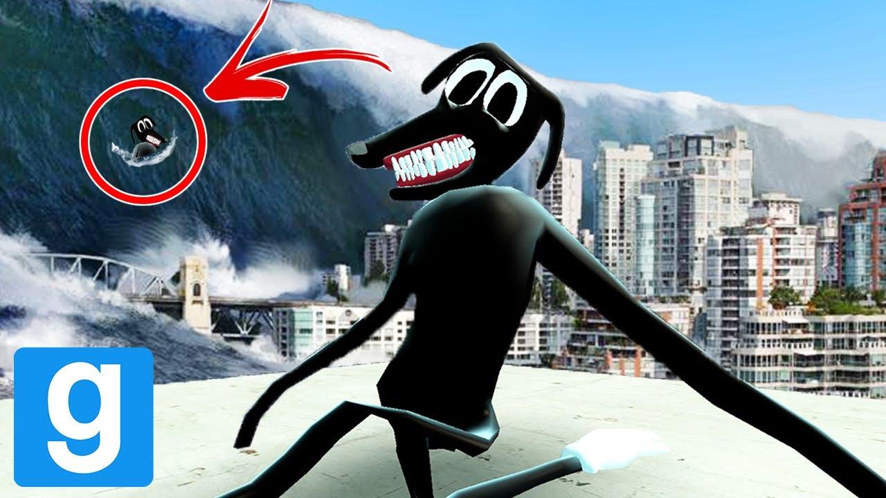Cartoon Dog In A Tsunami Trevor Henderson Mobs Garry S Mod
