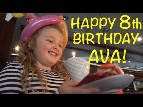Happy Birthday Song! Ava's 8th Birthday, Presents & Cutting Cake with 1000 Degree Knife?