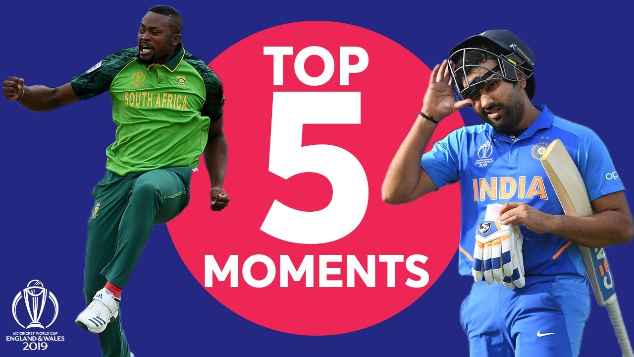 Sharma? Chahal? Phehlukwayo? | South Africa vs. India - Top 5 Moments | ICC Cricket World Cup 2019