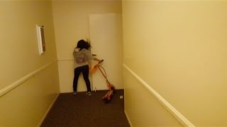 Electric Scooter FAIL - Wall SLAM
