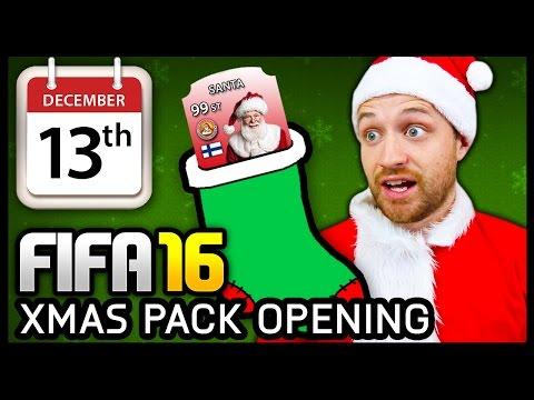 XMAS ADVENT CALENDAR PACK OPENING #13 - FIFA 16 ULTIMATE TEAM