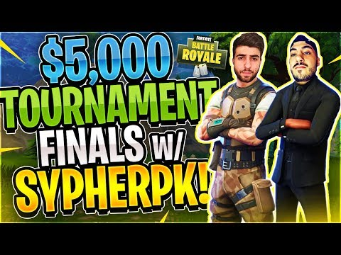 Keemstar's $5,000 Fortnite Tournament FINALS Feat. SypherPK (Fortnite Battle Royale)