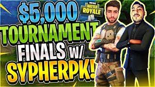 Keemstar's $5,000 Fortnite Tournament FINALS Feat. SypherPK (Fortnite Battle Royale)
