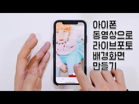 아이폰 라이브 포토 배경화면 좋아하는 동영�